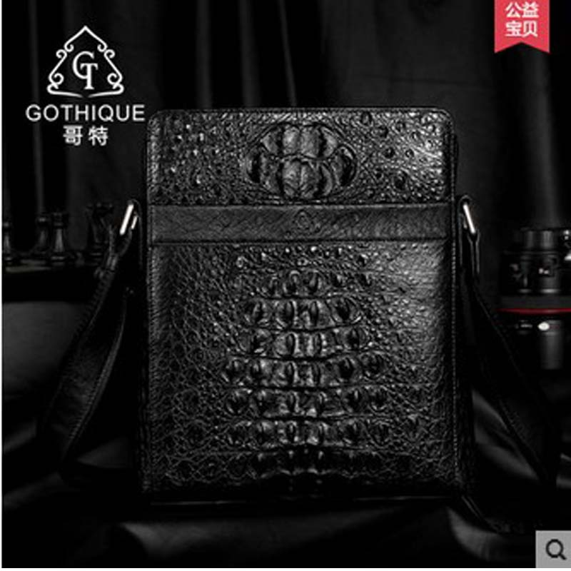 2018 gete  new hot free shipping Crocodile man handbag inclined shaft with Europe luxury leather bag Nile crocodile men bag yuanyu 2018 new hot free shipping import the real nile crocodile handbag big women handbag leather bag women shell bag