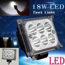 Super Bright 18W 6 LED Motorcycle Waterproof Headlight Work Head Light Driving Headlamp Fog Spot Lamp Night Safety