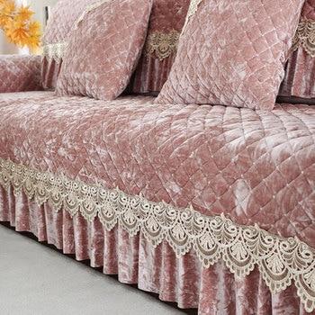 European summer non-slip plush sofa cushion, four seasons universal cushion, full cover sofa cover four seasons universal european luxury sofa cushion linen non slip cushion sofa cover