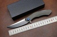 KESIWO Folding Hunting Knife Titanium Handle 59HRC D2 Blade Camping Outdoors Survival Tactical Pocket Knife Bearing