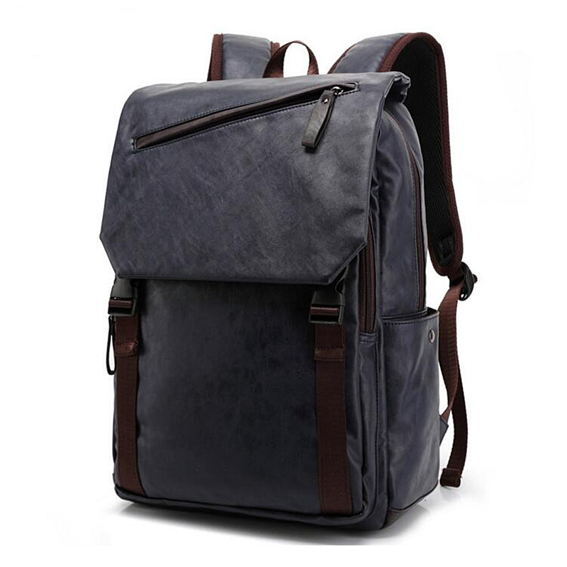 Men Backpacks Pu Leather Rucksack Shoulder Bags School Bag For Teenagers Black Women Backpack Travel Bolsas Mochila Feminina J40 2017 new women leather backpacks students school bags for girls teenagers travel rucksack mochila candy color small shoulder bag