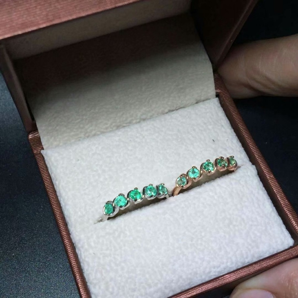 shilovem 925 sterling silver Natural Emerald Ring fine Jewelry Customizable women trendy wedding  open wholesale tfj030301agml
