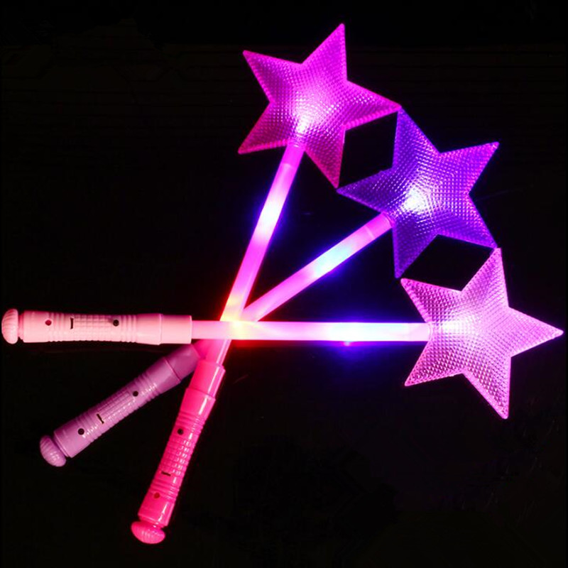 Event & Party Party Fairy Wands Magic Glow Sticks Luminous Toy Plastic Star Led Flashing Concert Hollow Fluorescent Bar Cheap Sales 50%