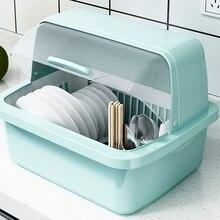Боулинг ящик для хранения чаши дренажный кухонный бытовой с крышкой чаша сушилка для посуды пластиковый шкаф