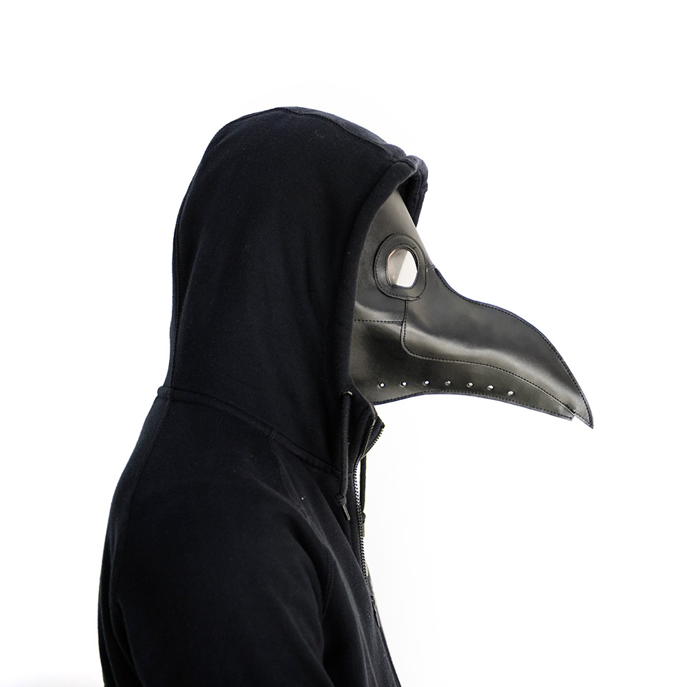 Plague Doctor Brown Retro Vintage Leather Steampunk Doctor Plague Bird Beak Halloween Steam Punk Gohic Breath Crow Corbie Mask