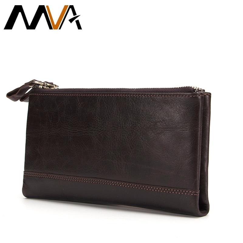 MVA Натуральна шкіра Гаманці Чоловіча гаманець зчеплення застібка-блискавка грошовий затиск гаманці шкіряний гаманець гаманець сумка з кишенькою для монет чоловічий гаманець