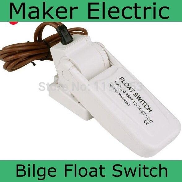 DC 12V 24V Marine Float Switch Flow Sensor For Bilge Pumps Automatic Electric Water Pump Sea Boat Aquario