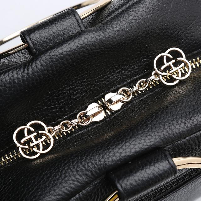 HONGU Luxury Cow Leather Handbags Women Bags Brands Ring Evening Purses Lady Mini Crossbody Shoulder Bags Female Messenger Totes