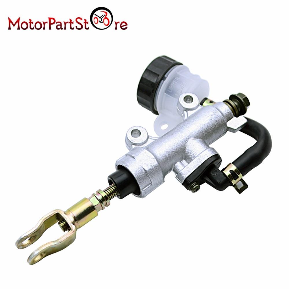 Rear Master Cylinder Hydraulic Brake Pump for Honda CR125 CR250 CR500 1990-2001 $ rear brake braking master cylinder for polaris trail boss 325 00 02 330 03 09trail blazer 250 2001 2006 330 2008 2013 400 2003