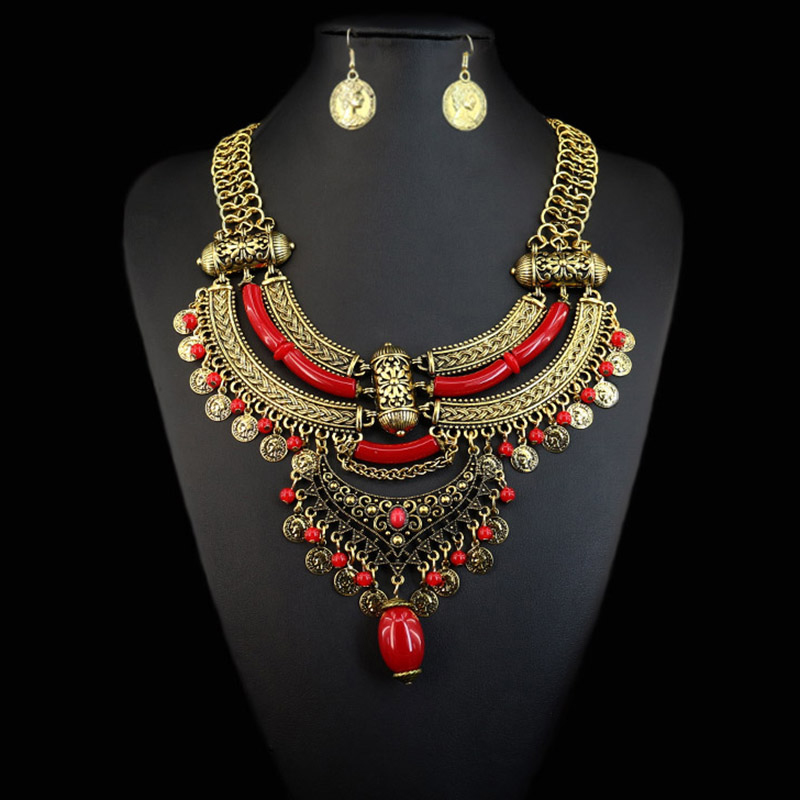 Style 123319 Diamontrigue Jewelry: JIANXI Necklace&Pendant Fashion Brand Jewelry Set Colorful