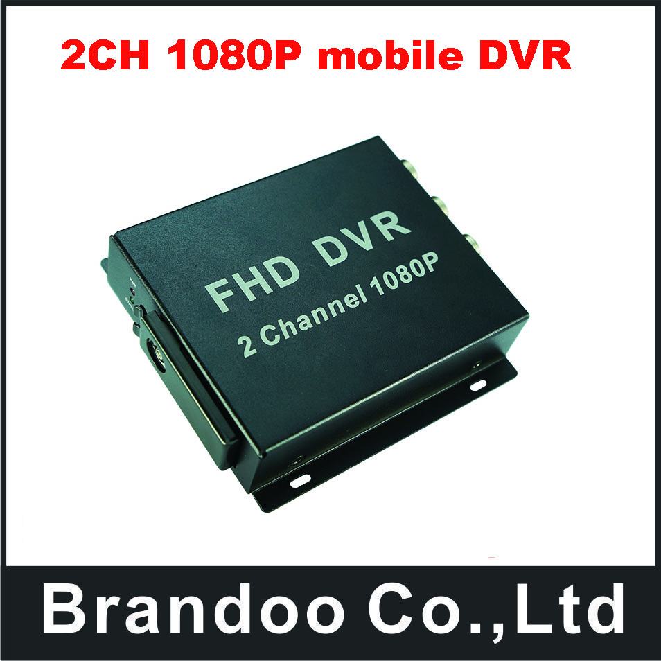2CH 1080P Full HD mobile DVR for bus,car,taxi,truck use.