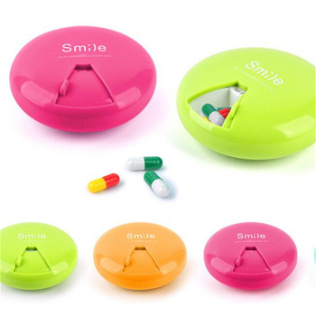 7 days weekly pill case medicine storage and tablet pill organizer box with clip lids for travel