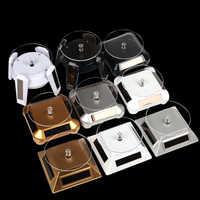 LED Licht Solar Rotierenden Display Drehen Armband Schmuck Display Stand Halter Rotierenden Display Basis Ring Plattenspieler Stand Halter