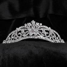 Bridal Tiara Rhinestone Crystal Hair Crown Vintage Wedding Head Jewelry Wedding Accessories jewelry forehead headbands Frontlet