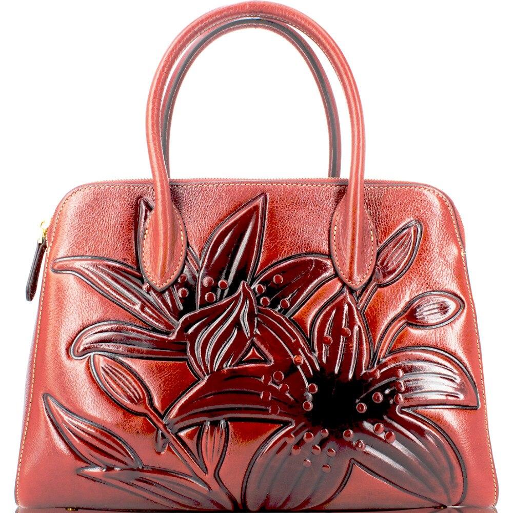 Frauen Individuelles Leder Top Schicht Brown Echten Großhandel Logo Weibliche Italienischen Tasche Satchel Schulter Drop Tote ORZ5qxnwg