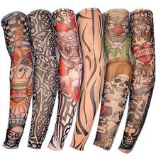1PC Fashion Arm Warmers High Quality Fake Temporary Tattoo Arm Sleeves Unisex UV Care Fake Slip On Tattoo Arm Sleeves