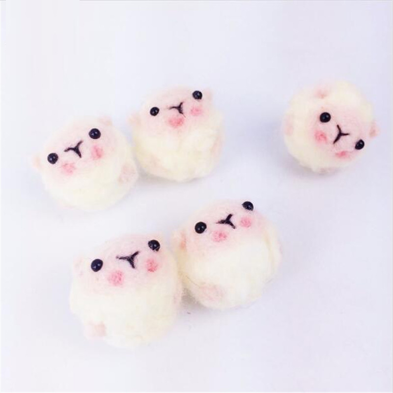 DIY Baby 10PC 3.5cm Handmake Wool Sheep Shape Soothe Felt Ball Kids Room Children Toys Wedding Wall Decor Toys Baby Crib Toys