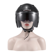 Portátil Da Motocicleta Abrir Rosto Capacete Anti UV Plástico ABS capacetes da motocicleta do vintage com lente dupla capacete parágrafo motocicleta