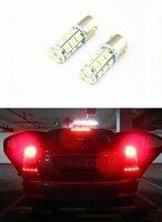 2x 12V 49mm Car Turn Signal Light 18 LED 5050 SMD S25 Parking Corner Tail Lamp
