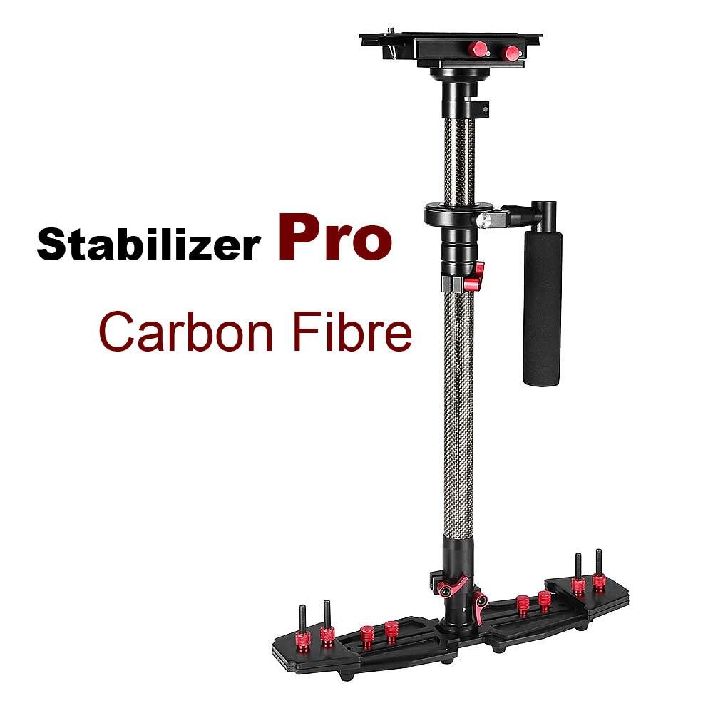 Fibra De Carbono Handheld Estabilizador de Vídeo Steadicam profissional Para Canon Nikon Sony etc. Sistema de Estabilização de Câmera DSLR Camcorder