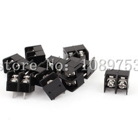 100 Pcs 8 5mm Pitch 2 Pin 2 Way PCB Barrier Terminal Block Connector Black 300V