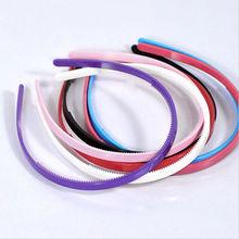3 шт. Пластик hairbands дамы/девочек/дети просто Стиль волос Обручи простой Дизайн зубы ярких цветов повязки
