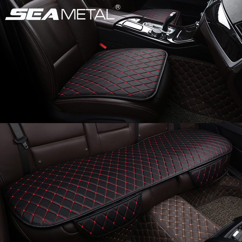 PU Leather Universal Car Seat Cover Protecter Set Chair Mat Cushion Car-styling