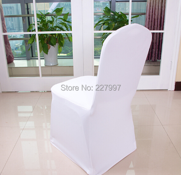 universal wedding chair covers posture mesh ᗑfactory price 200pcs polyester spandex factory for weddings banquet folding hotel decoration white