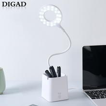 купить Digad 3 Color Desk Lamp USB Led Table Lamp 28 LED Table Lamp with Clip Bed Reading Book Light LED Desk Lamp Table Touch 5 Modes по цене 612.88 рублей