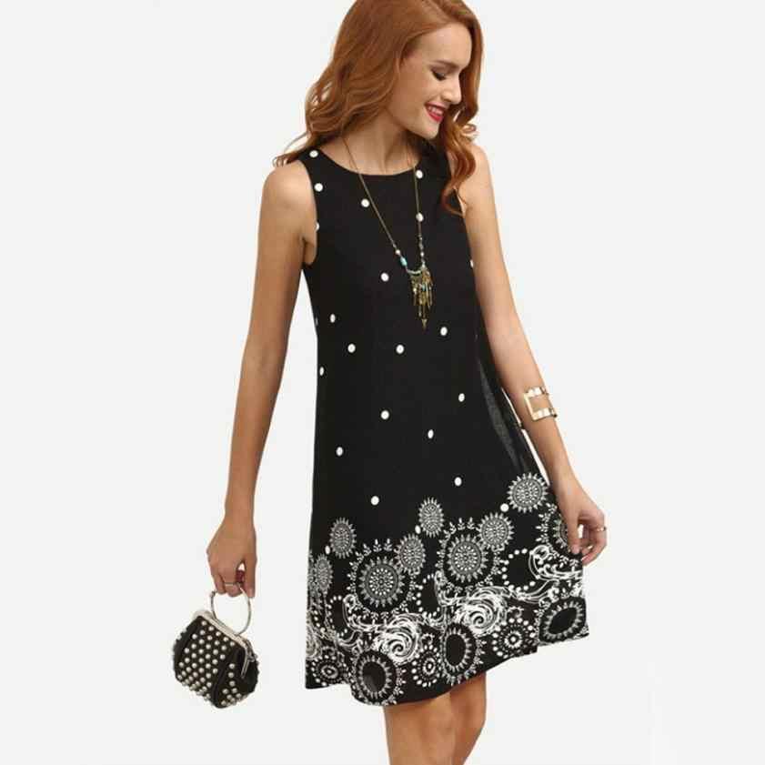 KANCOOLD robe nouvelle haute qualité fille été solide en mousseline de soie impression gilet robes sans manches soirée robe de soirée femmes AP24