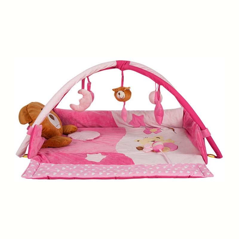 Doux bébé jeu de musique couverture bébé tapis de jeu jouet éducatif bébé Gym Puzzle jouet bébé étage Portable Cirb