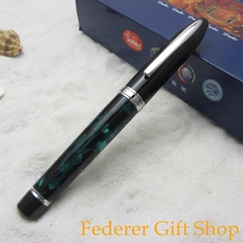 Duke Sharks High Quality Green Resin Rollerball Pen, Heavy Texture Metal Ballpoint Pen with Ordinary Gift Box G911