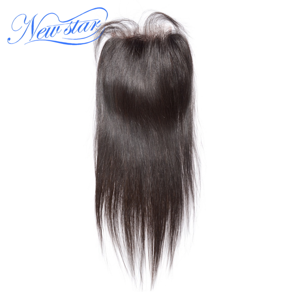 Peruvian Straight 4X4 Lace Free Part Closures Guangzhou New Star Virgin Human Hair Medium Brown Swiss Lace With Baby Hair