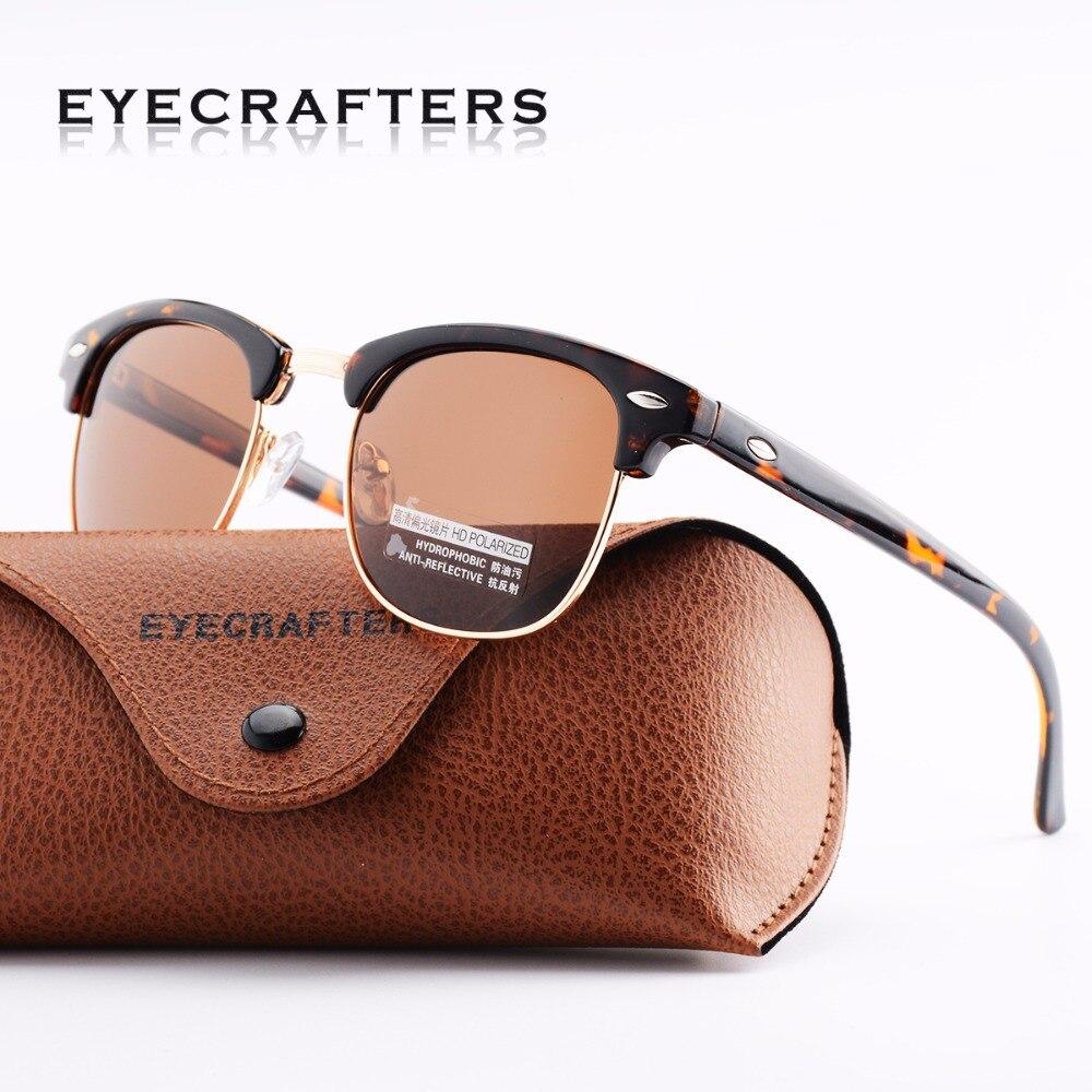 Schildkröte Designer Inspiriert Klassischen Halb Rahmen Horned Semi-Randlose Mens Womens Fashion Sonnenbrille Polarisierte Retro Brillen 3016