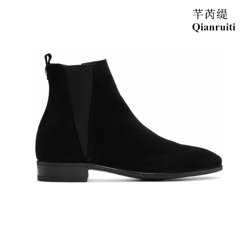 2019 NEW Fashion Show Spring Men Chelsea Boots Pointed Toe Ankle Boots British Style Motorcycle Cow Suede Classic Men Boots2019 NEW Fashion Show Spring Men Chelsea Boots Pointed Toe Ankle Boots British Style Motorcycle Cow Suede Classic Men Boots