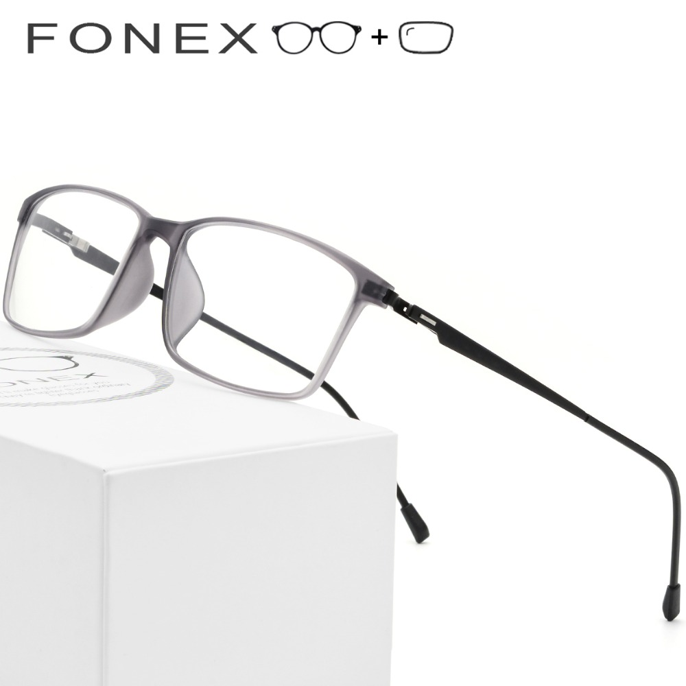 fb0559c0fc8 TR90 Titanium Alloy Prescription Glasses Frame Men Myopia Eye Glass  Eyeglasses 2019 Korean Screwless Optical Frames Eyewear 9855-in Prescription  Glasses ...
