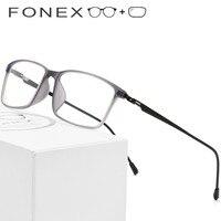 TR90 Titanium Alloy Prescription Glasses Frame Men Myopia Eye Glass Eyeglasses 2019 Korean Screwless Optical Frames Eyewear 9855