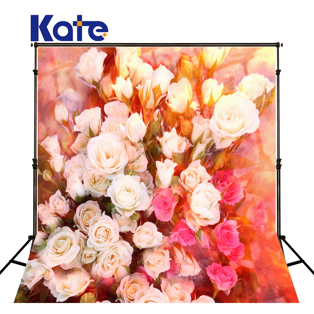 KATE 5x7ft Studio Backgrounds Flowers Floral Background Backdrop Valentines Day Backdrops Red Backdrops Background Kids Studio new arrival background fundo many flowers bloom 6 5 feet length with 5 feet width backgrounds lk 2505