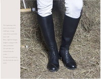 Aoud Horse Riding Boots Cow Leather Dressage Jumping boots Equestrian Boots Unisex Halters Customized Horse Riding Equipment