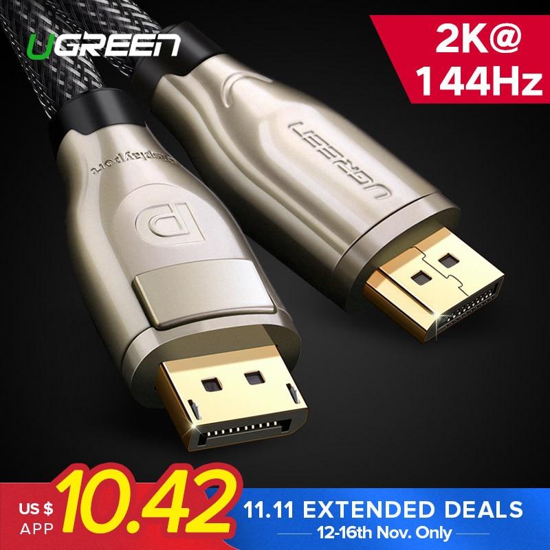 Ugreen Cable DisplayPort 144Hz de Cable de puerto 1,2 4 K 60Hz para HDTV tarjeta gráfica para proyector DisplayPort a cable DisplayPort