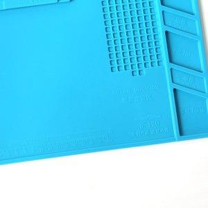 Image 5 - S 170 Isolierung Pad Wärme Beständig Silicon Löten Matte 480mm X 318mm Arbeits Pad Schreibtisch Plattform Solder Rework reparatur Werkzeuge