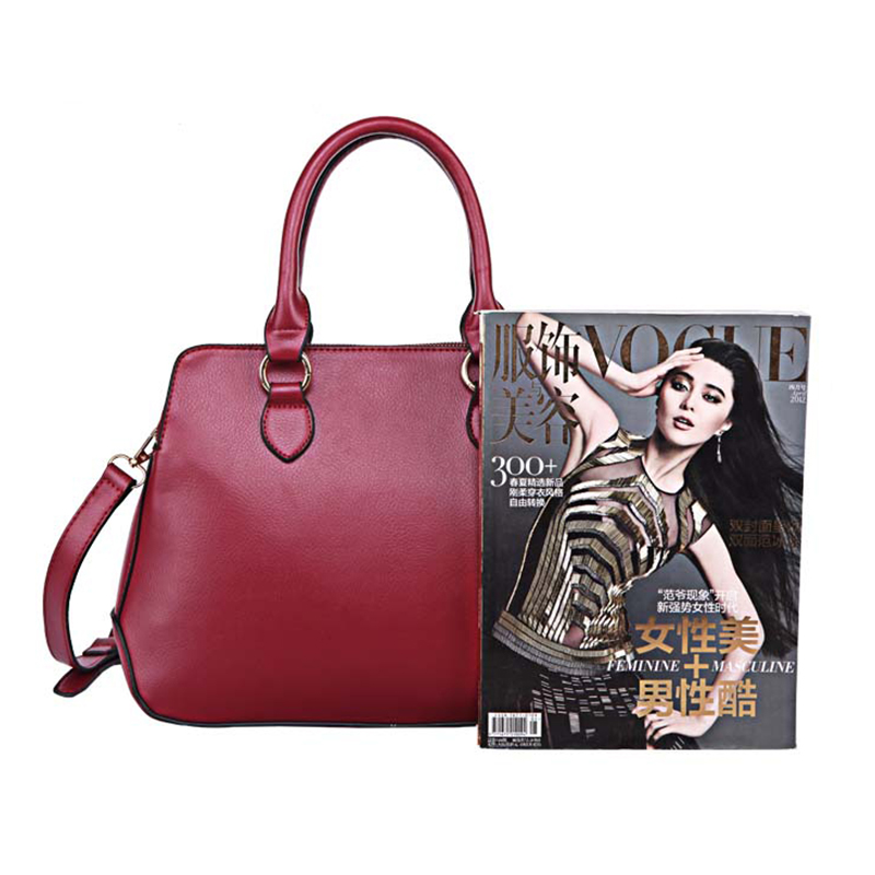 women Messenger Bags high quality office bag double zipper crossbody bag PU leather shoulder bags fashion saffiano in Shoulder Bags from Luggage Bags