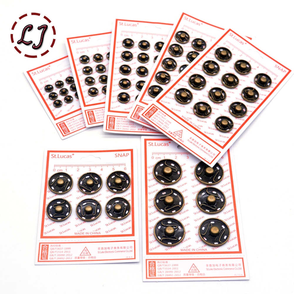 St.Lucas 1 paquete de sujetadores de cobre de metal botón de presión nylon Invisible botones a presión para ropa mujeres niños Botón de costura DIY
