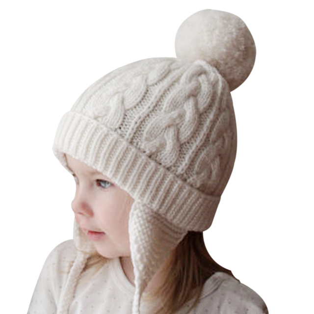 2f7438b51d05f Inverno bonito Do Bebê Chapéus Para Criança Chapéu Quente Cap Gorro Infantil  2017 Moda Infantil Meninos