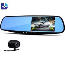 Novatek96650 Car Dvr 1080P Dual Lens Dash Camera Mirror Recorder With Rearview Camera Car Recorders Camcorder Vehicles Registrar