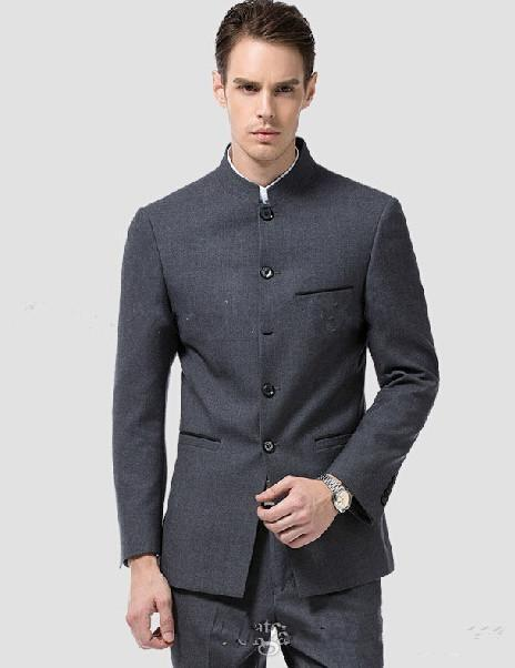Customized Made Slim Fit Grey Charcoal Men Wedding Suits Groom Tuxedos For Business Blazers Jacket Pants Tie In From S Clothing