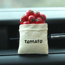 Tomato Shape Car Perfume Clip+2 Pcs Cottons For Interior Decoration