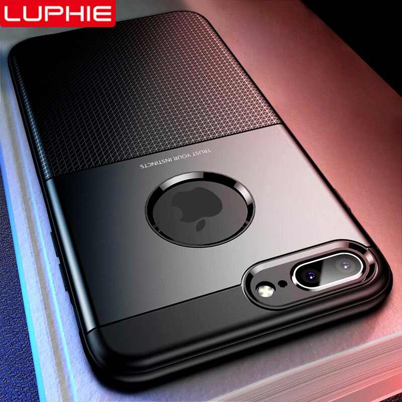 LUPHIE Luxury Shockproof Case For iPhone X XS Max XR Armor Cases Soft TPU  Cover For de6b335fa644