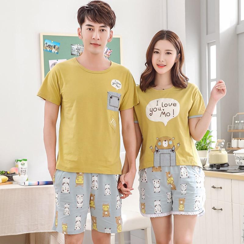 c928cc8710 Hot Sale Couple Pajamas Set Summer Men Or Women Sleeveless Pyjamas Lovers Sleepwear  Plus Size 3XL