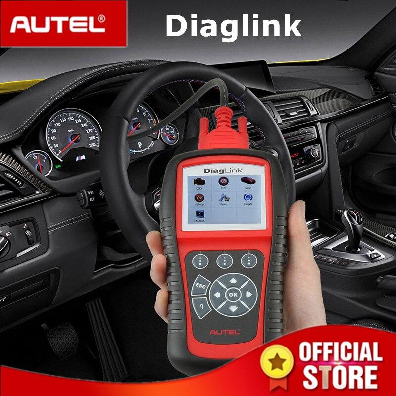 Autel Diaglink OBDII EOBD Auto Diagnostic Tool OBD II Code Reader Scanner for OBD2 EPB ABS Oil service PK MD805 MD802